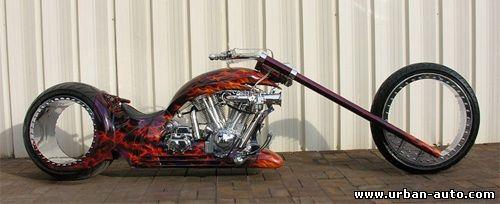 Hubless Monster – мотоцикл с колесами без оси и спиц